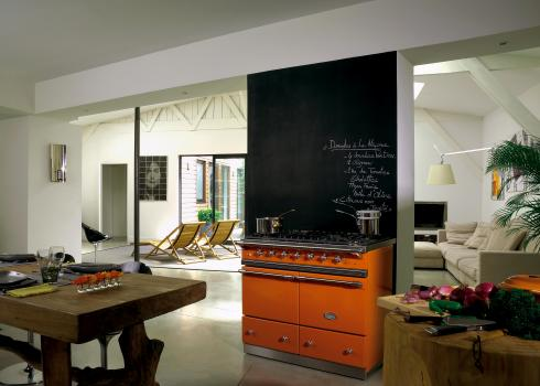A Lacanche range cooker makes the room