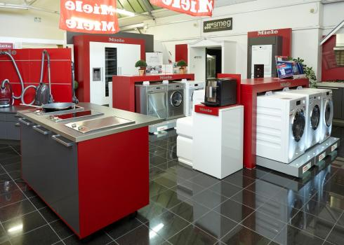 Our extensive range of appliances at our showroom in Cheshire