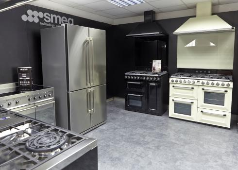 Our dedicated SMEG showroom section