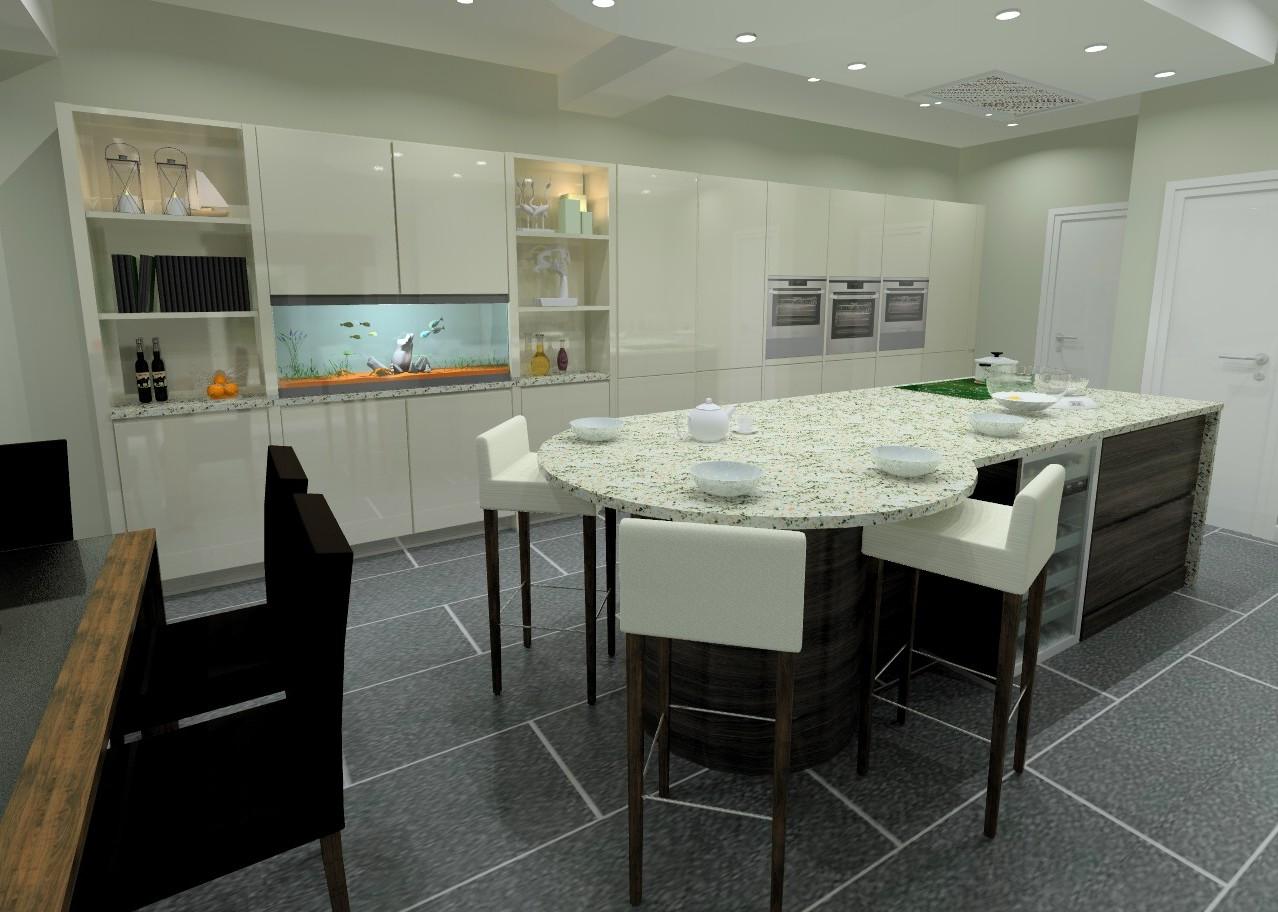 ... Computer 3D Visual Of Kitchen Design Part 71
