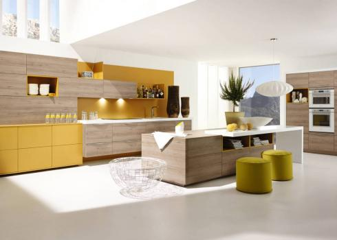 ALNO Plan - Silva Beech and Sund Curry Yellow
